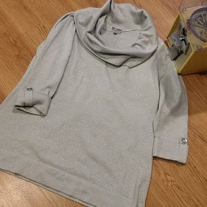 JM Collection Silver Sweater